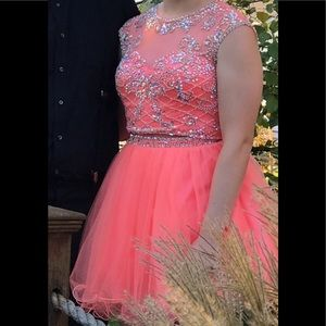 2 pc coral homecoming dress